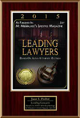 Milwaukee's Lifestyle Magazine | Leading Lawyers Based on AVVO Attorney Ratings | Jane E.Probst